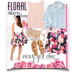 Floral Skirts by ellie366 on Polyvore featuring polyvore fashion style Aéropostale Zara Henri Bendel Rosantica floralprint contestentry Floralskirts PVCurvyChic