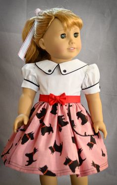 Scotties and Checks made for 18 inch doll such as American Girl