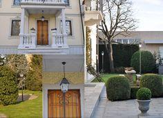 Eleganti e raffinate, queste romantiche lanterne, sono adatte anche per l'ingresso principale della villa. Altri bellissimi scorci in questa recente realizzazione.
