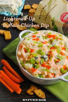 A lightened-up version of the deliciously savory game-day treat!