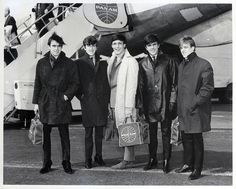 3/2/1964New York New YorkLondon rock and roll group the Dave Clark Five at John F Kennedy Airport Left to right Dennis Payton Lenny Davidson Rick...