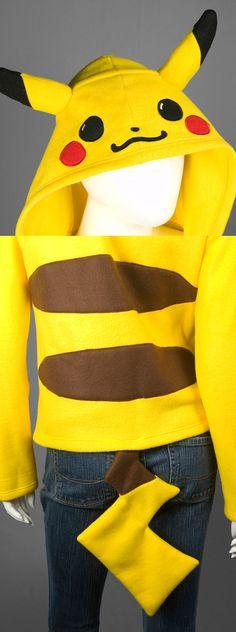 Pikachu Pokemon Costume Hoodie Made to Order by CholyKnight