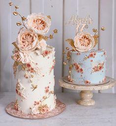 Beautiful Birthday Cakes, Gorgeous Cakes, Pretty Cakes, Cute Cakes, Amazing Cakes, Bolo Floral, Floral Cake, Elegant Wedding Cakes, Wedding Cake Designs