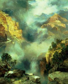 Mist in the Canyon..Thomas Moran
