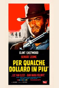 "Sergio Leone's sequel to A Fistful of Dollars reunites the Italian director with Clint Eastwood, the infamous ""Man With No Name."" Eastwood teams up with a bounty hunter (Lee Van Cleef) in order to capture a psychotic bandit (Gian Maria Volonte). Like the other films in the trilogy, Leone's tight closeups and Ennio Morricone's musical score have become legend, imitated and parodied in equal measure. Actors have also attempted the patented Eastwood squint-and-sneer, on full display in this…"