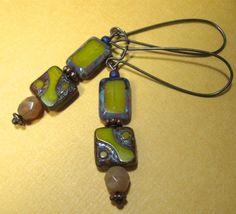 HONEY MUSTARD earrings on French wires.  I'm feeling that retro vibe! $10.50.  http://www.etsy.com/listing/123925688/honey-mustard?#