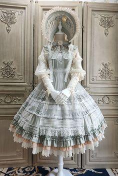 Old Fashion Dresses, Old Dresses, Pretty Dresses, Vintage Dresses, Beautiful Dresses, Pretty Outfits, Fashion Outfits, Kawaii Dress, Kawaii Clothes