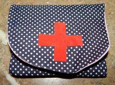 zakje voor medicatie in handtas.