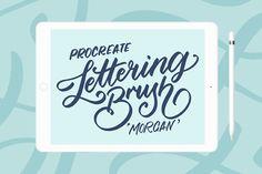 iPad lettering brush for Procreate by Sasha Hickson on @creativemarket