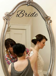 Bride Mirror Photo Prop Decal. $5.00 Choose your color! Check out TheVinylSeal.storenvy.com!