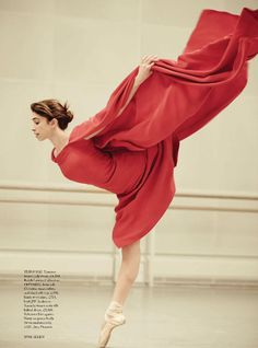 Poetry In Motion by Tom Allen for Harper's Bazaar UK April 2014 (found on inspirationbycolor.com).  Ballerina is wearing a beautiful dress from the Ralph Lauren collection. #dress #dance