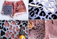 Estampe de onça uma peça de roupa - Passo a passo - Arteblog