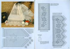 "Photo from album ""кайма крючком"" on Yandex. Filet Crochet, Crochet Borders, Diy Crochet, Crochet Patterns, Crochet Edgings, Crochet Dollies, Crochet Tablecloth, Lace Border, Victoria"