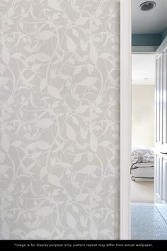 pretty wallpaper for a guest bedroom