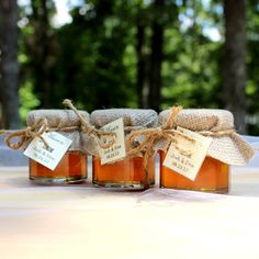 Irish wedding tradition with a custom twist... SET OF 70 Rustic Chic raw honey wedding favors by OccasionHouse, $262.50