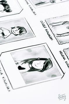 Ilustracje do niestandardowego podręcznika komunikacji polsko - czeskiej. Zilustrowany przez Dinksy
