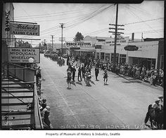 Vashon Peach Festival parade, Vashon, August 9, 1947 by IMLS DCC, via Flickr
