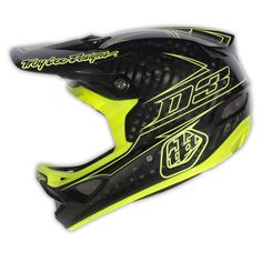 Troy Lee Designs D3 Helmet Pinstripe CF Yellow