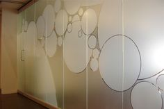 Window Film Solutions - fabulous product and idea for creating privacy Window Design, Wall Design, Glass Film Design, Glass Wall Systems, Frosted Window Film, Window Graphics, Glass Railing, Interior Windows, Glass Partition