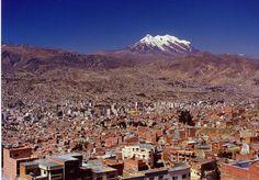 The City of La Paz, Bolivia.