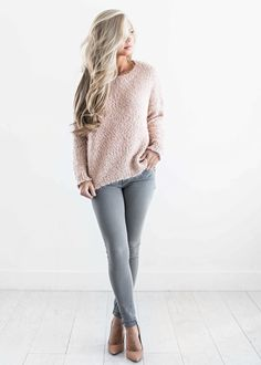 sweaters, blush sweater, fall fashion, womens fashion, shop jessakae