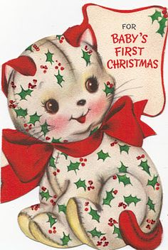 "Vintage.....""For Baby's First Christmas"""
