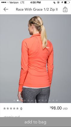 Lululemon race with grace 1/2 zip pullover II atomic red