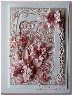 Gorgeous design by Miranda using Crealies, Spellbinder, Memory box dies & embossing folder.  Colours with Pan Pastel