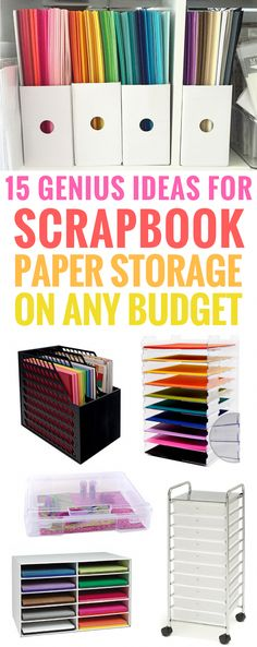 Ideas for Scrapbook Paper Storage (On Every Budget!) DIY Paper Cheap Ikea Portable Crafts #scrapbooking #scrapbook #scrapbookcrafts