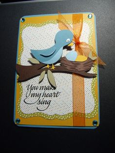 Kate's Abc - adorable bird card