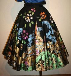 Vintage Mexican Skirts!  Learn how to make one of these beauties! Too pretty,  love it!