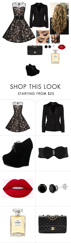 """""""Untitled #106"""" by pinky731 ❤ liked on Polyvore featuring Alexander McQueen, Forever Link and Chanel"""