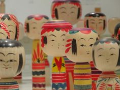 Traditional Japanese Kokeshi Dolls by Rekishi no Tabi