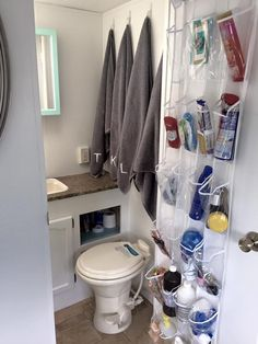 Travel Trailer Bathroom.