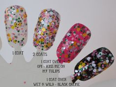 Flowers on the Highway Glitter Nail Polish