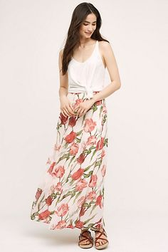 Tulipe Maxi Skirt #anthropologie