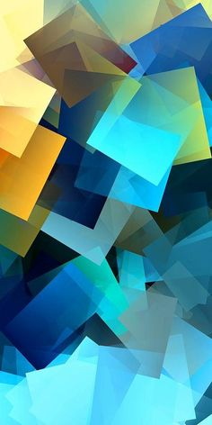 Simple Cubism Abstract 69 Print by Chris Butler. All prints are professionally…