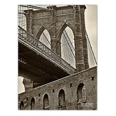 'Brooklyn Bridge' by Bruce Bain Photographic Printt on Wrapped Canvas