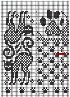 Mittens Pattern, Knit Mittens, Knitting Socks, Mitten Gloves, Small Cross Stitch, Cross Stitch Charts, Cross Stitch Patterns, Knitting Charts, Knitting Patterns