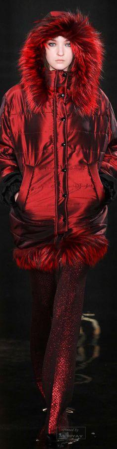 Ruby: Passion + Romance + Luxurious Love | http://www.PsychicKailo.org | red coat; Valentin Yudashkin.Fall 2015.
