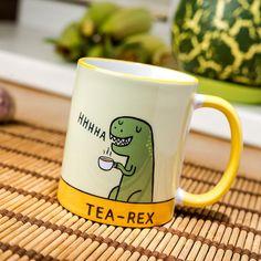 Rex de té taza taza de café cerámica divertido T Parque Jurásico los dinosaurios regalo de la novedad Nueva