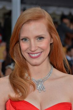 Jessica Chastain in Harry Winston at the 2013 SAG Awards