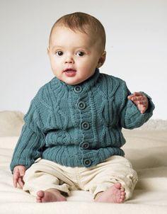 Babytrøje med fletmotiver
