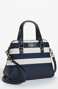 Kate striped satchel