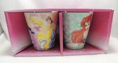Disney Princess Coffee Tea Cocoa Cup Mug 10 oz Set 2 Ariel Cinderella Snow White #Disney