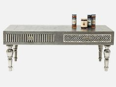 Ława Chalet srebrna — Ławy, Stoliki kawowe — KARE® Design
