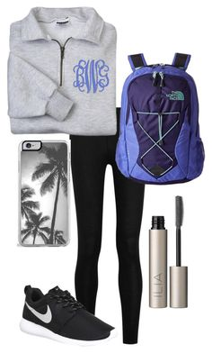 """""""grey's comes on tonight"""" by kendallmichele ❤ liked on Polyvore featuring Donna Karan, NIKE, Zero Gravity, The North Face and Ilia"""