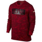 #NewYear #NBAStore.com - #NBAStore.com Men's Nike Red Elite Basketball Long Sleeve Performance T-Shirt - AdoreWe.com
