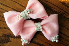 Felt Hair Bow by CallaFaye on Etsy, $8.00