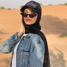 Hijab and cap Stylish Hijab, Modest Fashion Hijab, Modern Hijab Fashion, Street Hijab Fashion, Hijab Casual, Hijab Fashion Inspiration, Hijab Outfit, Muslim Fashion, Fashion Outfits